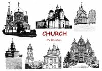 20 Church Sketch PS Brushes abr. Vol.7