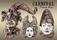 20 Carnival Mask PS Brushes abr.vol.7