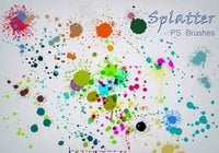 20 Color Splatter PS Brushes abr vol.5