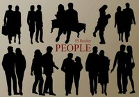 20 People Silhouette PS Brushes vol.5