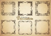 20 Decorative Border PS Brushes abr. Vol.4