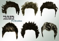 20 Hair Male PS Brushes abr. vol.4