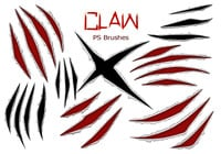 20 Claw Scratch PS Brushes ABR. vol.7