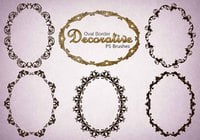 20 escovas decorativas Oval PS abr. Vol.6