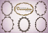 20 Decorative Oval PS Brushes abr. Vol.6