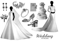 20 Wedding PS Brushes abr. vol.9