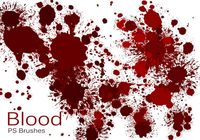 20 Blood Splatter PS Brushes abr vol.4