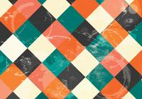 Retro Checkered Coffee Stained Background