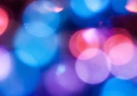 Blurry Bokeh Beads Background