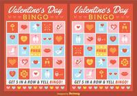 Cartes de bingo de valentine psd