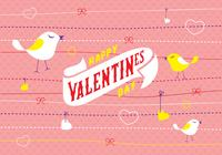 Carte d'invitation de Saint Valentin PSD Background