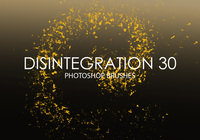 Free Disintegration Photoshop Brushes 30