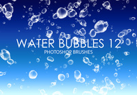 Free Water Bubbles Pinceles para Photoshop 12