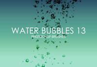 Free Water Bubbles Pinceles para Photoshop 13