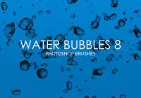 Free Water Bubbles Pinceles para Photoshop 8