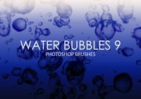 Free Water Bubbles Photoshop Brushes 9