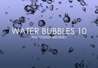 Free Water Bubbles Pinceles para Photoshop 10