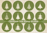 Christmas Tree Stamp Brushes