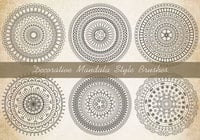 Decoratieve Mandala Borstels