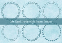 Cute Hand Drawn Sketchy Frame Brushes