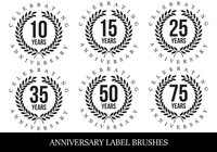 Anniversary Label Brushes