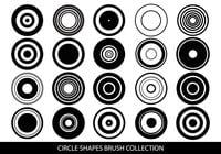 Circle Shapes Brush Collection
