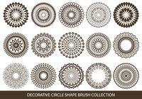 Cepillos decorativos de forma de círculo