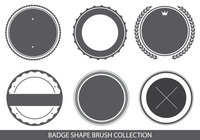 Badge Shapes Brush Collection