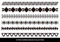 Cepillos fronterizos de estilo étnico