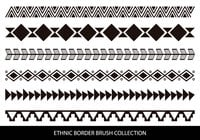 Pincéis de borda estilo étnico