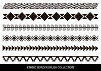 Ethnic Style Border Brushes