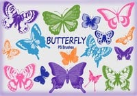 20 Butterfly PS Brushes abr.Vol.8