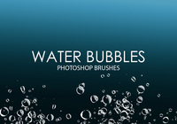 Free Water Bubbles Pinceles para Photoshop