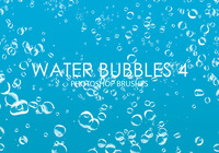 Free Water Bubbles Pinceles para Photoshop 4