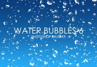 Free Water Bubbles Pinceles para Photoshop 6