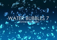 Free Water Bubbles Pinceles para Photoshop 7
