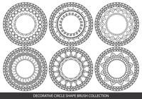 Pincel decorativo em forma de círculo