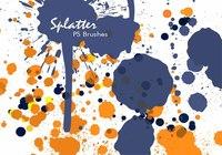 20 Color Splatter PS Brushes abr vol.6