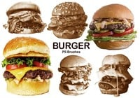 20 Burger PS Brushes abr. Vol.6