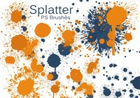 20 Color Splatter PS Brushes abr vol.7