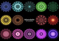 20 Mandala PS Brushes abr. vol.6