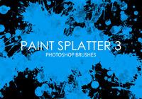 Escovas de fotos grátis splatter de tinta 3