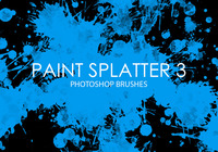 Free Paint Splatter Photoshop Brushes 3