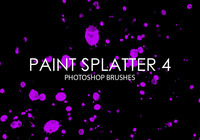 Gratis Paint Splatter Photoshop Borstar 4