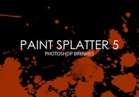 Free Paint Splatter Photoshop Brushes 5
