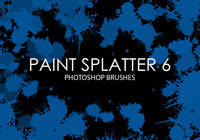 Paint Splatter Pinceles para Photoshop 6