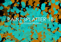 Free Paint Splatter Photoshop Brushes 18