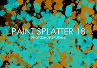 Paint Splatter Pinceles para Photoshop 18