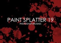 Free Paint Splatter Photoshop Brushes 19