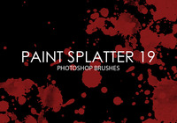 Gratis Verf Splatter Photoshop Borstels 19